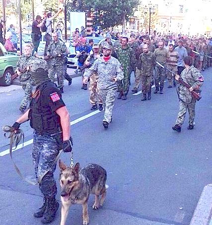 Donetsk POW parade