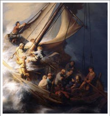 Rembrant - Jesus calms the storm