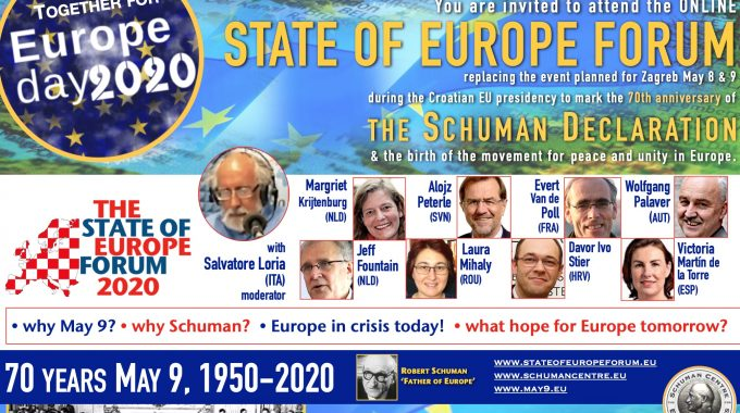 9 May 2020 – Online State Of Europe Forum