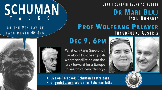Schuman Talks (Episode 7) – Dr. Mari Blaj And Prof. Wolfgang Palaver